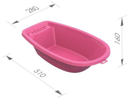 Ванна для куклы Нордпласт малая розовая