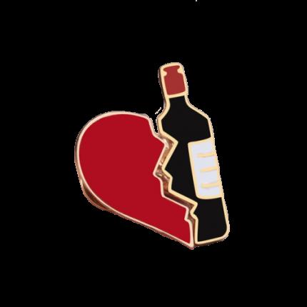 Комплект из 2-х значков Wine Heart, металл