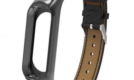 Ремешок кожаный для Mi Band 3 Leather Strap Black