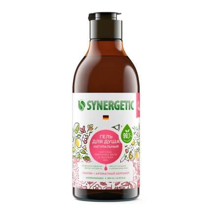 Биоразлагаемый натуральный гель для душа Synergetic Пачули и ароматный бергамот, 0,38л