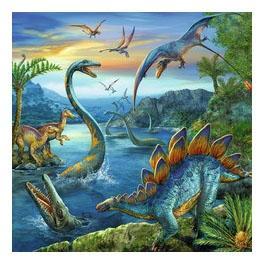 Пазл ravensburger «динозавры» 3х49элем.