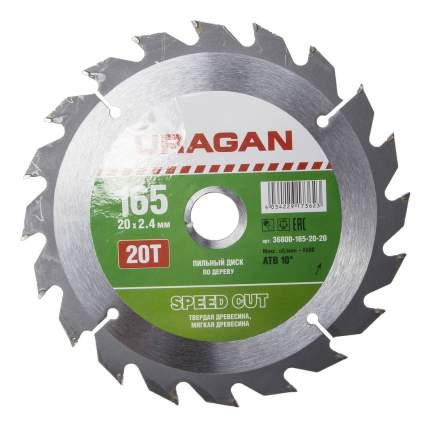 Диск по дереву для дисковых пил Uragan 36800-165-20-20