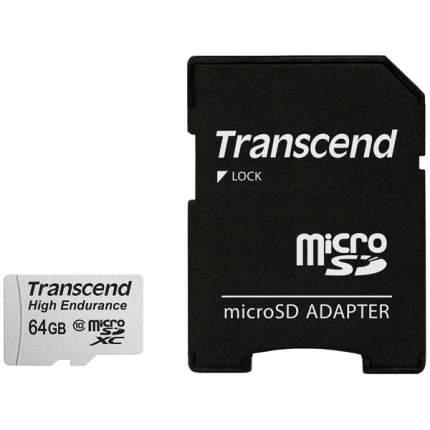Карта памяти Transcend Micro SDXC High Endurance TS64GUSDXC10V 64GB