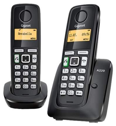 Телефон DECT Gigaset A220 Duo черный