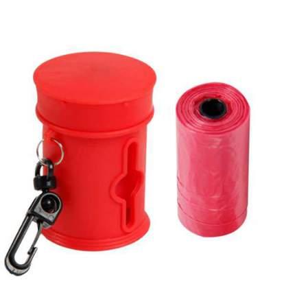 Пакеты для собачьих экскрементов MAJOR футляр+сменные пакеты, красный, 2 рулона по 15 шт