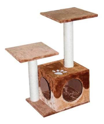 Комплекс для кошек MAJOR с двумя входами и площадками 30х40х67см бежево-коричневы