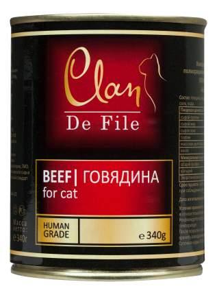 Консервы для кошек Clan De File, говядина, 12шт, 340г