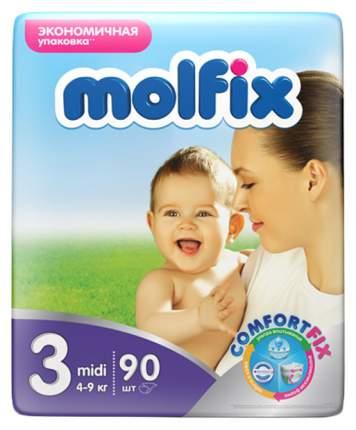 Подгузники Molfix Comfort Fix Midi 3 (4-9 кг), 90 шт.