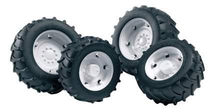Шины Bruder для системы сдвоенных колёс Аксессуары A, с белыми дисками, 4 шт.