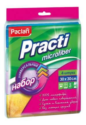 Салфетка для уборки Paclan Practi Microfiber Универсальная 30x30 см 4 шт