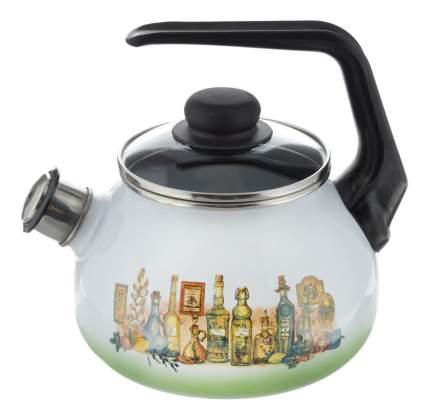 Чайник для плиты СТАЛЬЭМАЛЬ 2 л