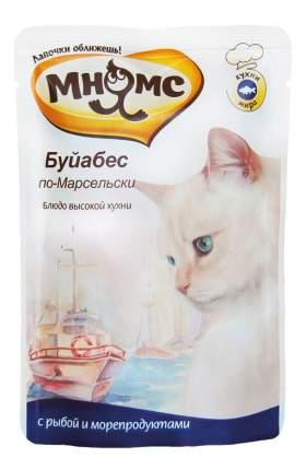 Влажный корм для кошек Мнямс Буйабес по-Марсельски, рыба, морепродукты, 85г