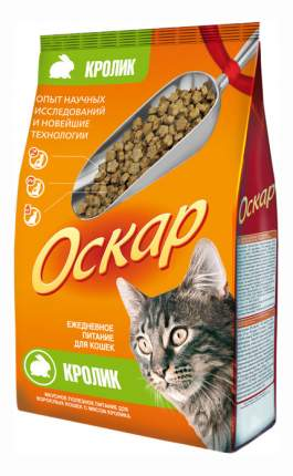 Сухой корм для кошек Оскар, кролик, 0,4кг
