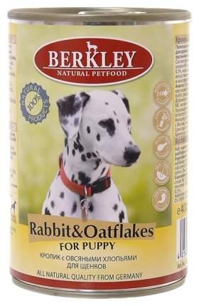 Консервы для щенков Berkley Puppy, кролик, овсянка, 400г