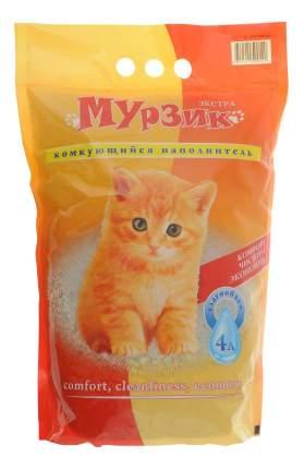 Комкующийся наполнитель для кошек Мурзик Экстра-комкующийся, цеолитовый, 2.45 кг, 4 л