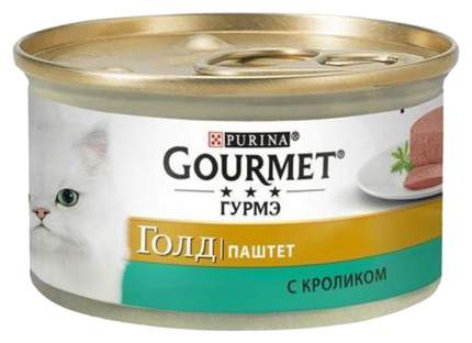 Консервы для кошек Gourmet Gold, кролик, 85г