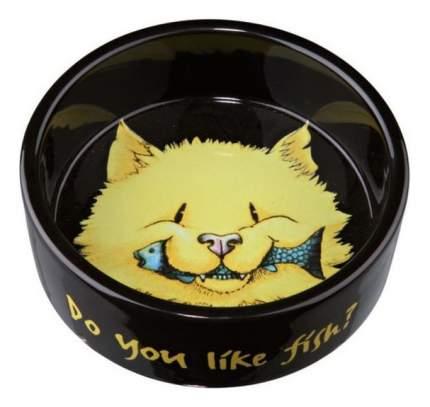 Одинарная миска для кошек TRIXIE, керамика, коричневый, 0.3 л
