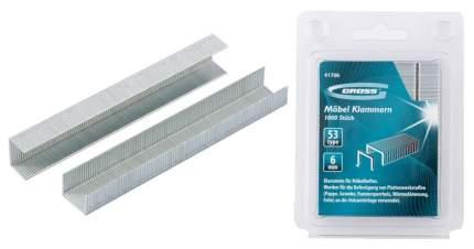 Скобы для электростеплера GROSS 41706