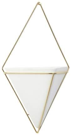 Декор для стен Trigg малый белый-латунь
