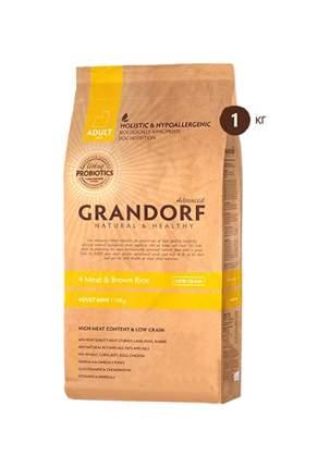 Сухой корм для собак Grandorf Living Probiotics Adult Mini, индейка, кролик, лосось, 1кг