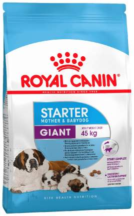 Сухой корм для щенков ROYAL CANIN Giant Starter Mother & Babydog, птица, 15кг