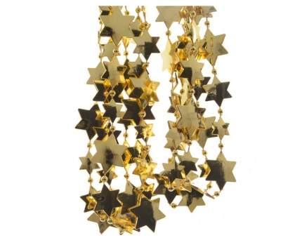 Kaemingk Бусы пластиковые Звезды 270 см золотые 001311