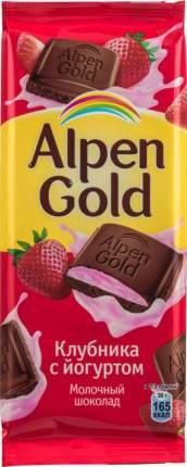 Шоколад молочный Alpen Gold клубника с йогуртом 85 г