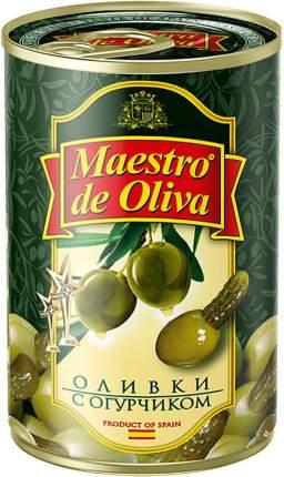 Оливки Maestro de Oliva с огурчиком 300 г
