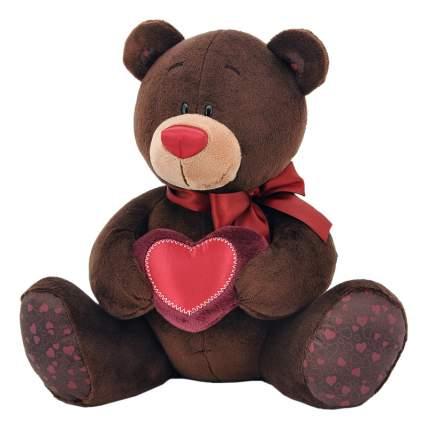 Мягкая игрушка Orange Toys Медведь Choco с сердцем 25 см коричневый C003/25