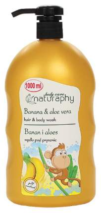 Гель для душа BluxCosmetics BANANA Naturaphy Hair & Body washes with pump 1000 мл