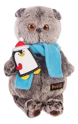 Мягкая игрушка BUDI BASA Басик в шарфике с пингвином, 19 см