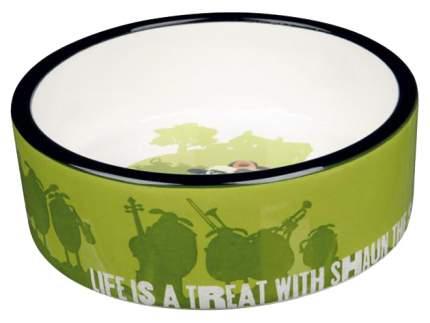 Одинарная миска для собак TRIXIE, керамика, зеленый, 0.8 л