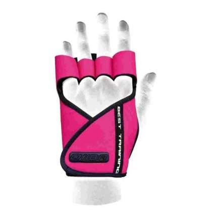Перчатки для тяжелой атлетики и фитнеса Chiba Lady Motivation Glove, розовые/черные, XS
