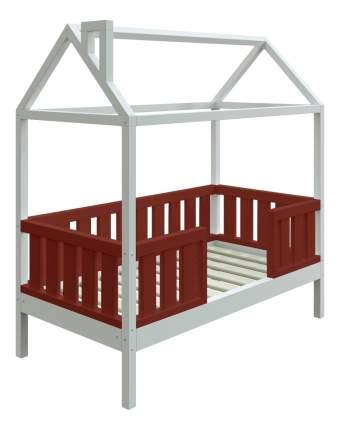 Кровать-домик Трурум KidS Сказка широкий бортик шоколадно-белая