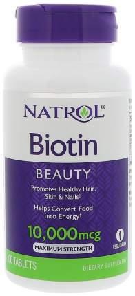 Витамин B Natrol Biotin 10000 100 таблеток