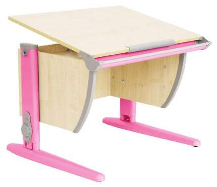 Парта Дэми СУТ 14-02Д 75 см С задней двухъярусной и боковой приставками Клен Розовый