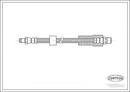 Шланг тормозной Corteco 19026690
