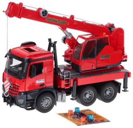 Пожарная машина автокран Mercedes-Benz Arocs Bruder Красный