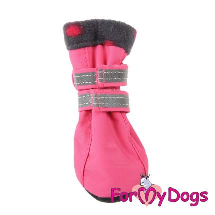 Сапоги для собак FOR MY DOGS, на флисе, розовые, FMD625-2018 P 5