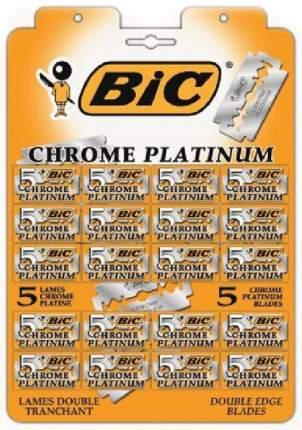"Лезвия для станка BIC ""Chrome platinum"", 20*5 штук"