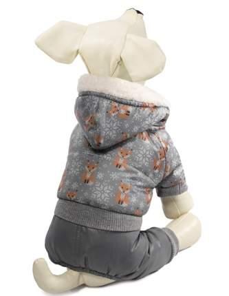 Комбинезон для собак Triol Лисички, зимний, серый, M
