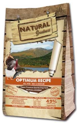Сухой корм для собак Natural Greatness Optimum Recipe Mini&Medium, индейка, курица, 18кг