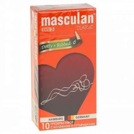 Презервативы Masculan №3 Classic с колечками и пупырышками 10 шт.