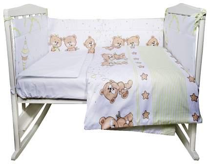 ЭДЕЛЬВЕЙС Комплект в кроватку Прогулка (4 предмета, цвет: зеленый) УТ0010271