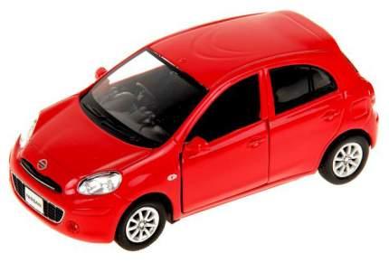 Машина металлическая RMZ City 1:32 NISSAN MARCH, Цвет Красный