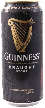 Пиво Guinness Draught (with nitrogen capsule) in can 0.44 л