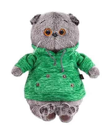 Мягкая игрушка BUDI BASA Басик в зеленой толстовке с карманом-кенгуру, 30 см