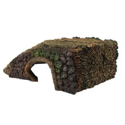 Грот для аквариума AQUA DELLA Oakly Stump, полиэфирная смола, 27,5х20,5х9,8 см