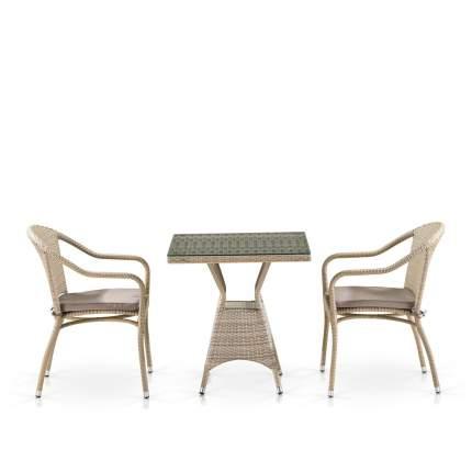 Комплект плетеной мебели Afina T706/Y480C-W85 Latte (2+1)