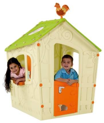 Игровой дом Keter Волшебный с петушком белый-зеленый-оранжевый